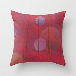 reddish sphere Throw Pillow
