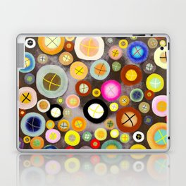 The incident - Circles pale vintage cross Laptop & iPad Skin