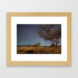 Stars over Kilimanjaro. Kenya. Framed Art Print