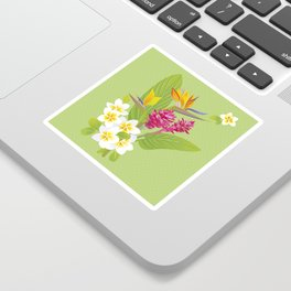 Tropical Flowers Sticker