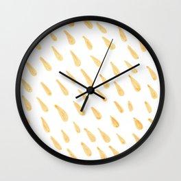 Yellow Art Wall Clock