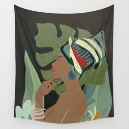 Woman with a Tuban Wall Tapestry
