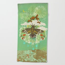 EVENING PSYCHEDELIA Beach Towel