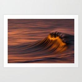 Flaming Wave Art Print