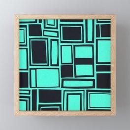 Windows & Frames - Teal Framed Mini Art Print
