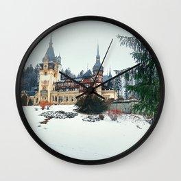Peles Castle Romania Wall Clock