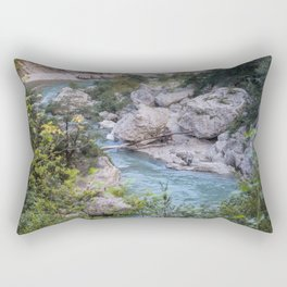 Walking by the river Rectangular Pillow