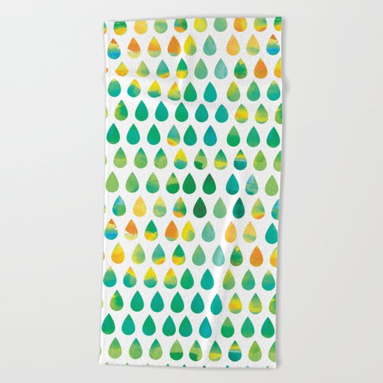Monsoon Rain Beach Towel