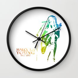 malcolm young Wall Clock