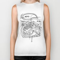 cafe racer Biker Tanks featuring NORTON COMMANDO 961 CAFE RACER 2011 by Larsson Stevensem