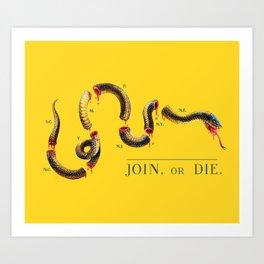 Join, or Die. Art Print