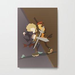 Professor Layton - Anton VS Layton Metal Print