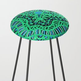 Doodle 16 Blue Counter Stool
