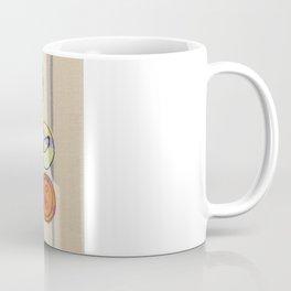 Embroidered Button Illustration Coffee Mug