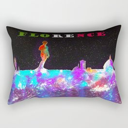 Florence Italy Skyline - With Banner Rectangular Pillow