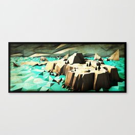 """Northern Island"" - J. Lama Moral Canvas Print"