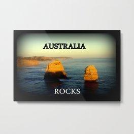 Australia Rocks Metal Print