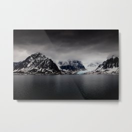 Artic Wilderness 01- Mountains and Glacier Metal Print
