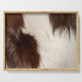 Animal Fur Brown And White Serving Tray