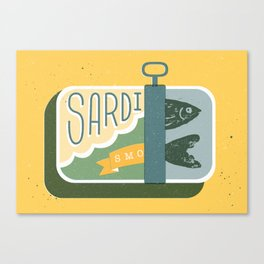 Sardines in a can Canvas Print