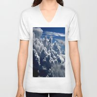 clouds V-neck T-shirts featuring clouds by  Agostino Lo Coco