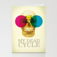cycle Stationery Cards featuring CYCLE by Nazario Graziano