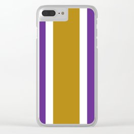 TEAM COLORS 10...GOLD,PURPLE Clear iPhone Case