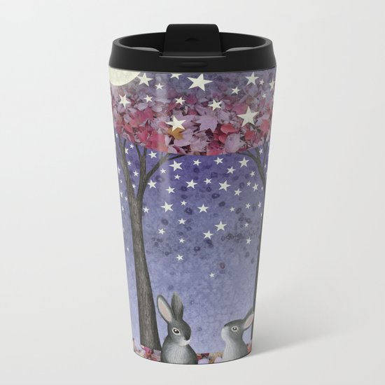 starlit bunnies Metal Travel Mug