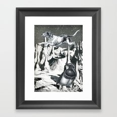 Yes, It's Safer Up Here ! Framed Art Print