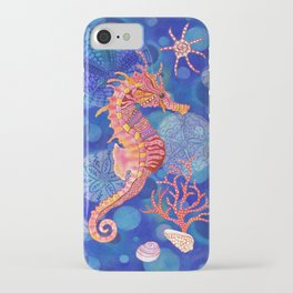 Seahorse in the Deep Blue iPhone Case