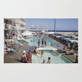 Shalimar Motel Pool in the 1960's. Wildwood, New Jersey Rug