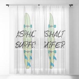 Asphalt Surfer 2 Surfboard Sheer Curtain