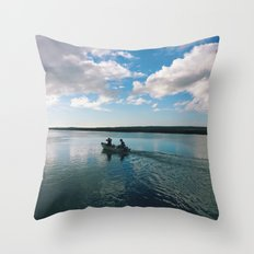 Boating Date Throw Pillow