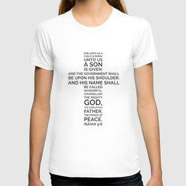 Unto Us - Cross Scripture T-shirt