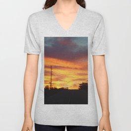 Country Sunset Unisex V-Neck