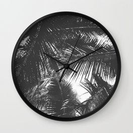 Tropical Black and White Wall Clock