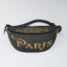 Paris In Gold French Typography Art Fanny Pack