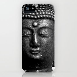 Contemplate - Buddha Black & White iPhone Case
