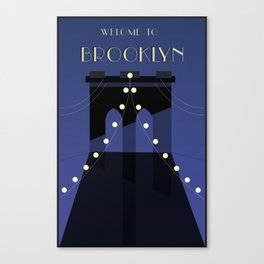 Brooklyn Travel Poster Canvas Print