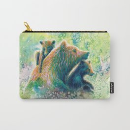Mother Grizzly Bear Carry-All Pouch
