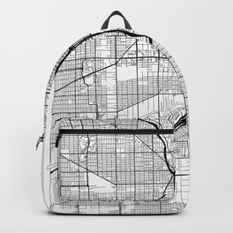 Chicago Map White Backpack