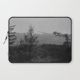 Snow Cap Mountain black and white Laptop Sleeve