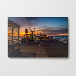 Sunrise on the Pier Avila Beach California Metal Print