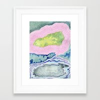 geode Framed Art Prints featuring Geode by Kaley Dickinson
