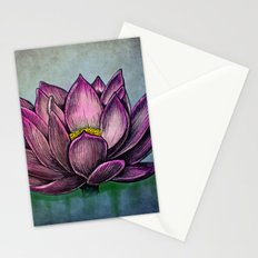 Lotus Flower Stationery Cards