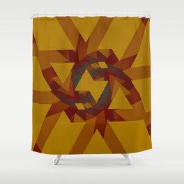 Interlocked Geometry Shower Curtain