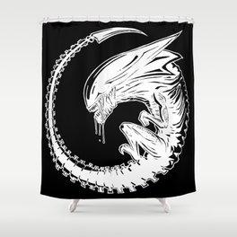 Queen Alien Fetus Shower Curtain