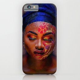 African American Portrait - The Color God Sees When He Closes His Eyes to Dream iPhone Case