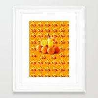 orange pattern Framed Art Prints featuring Orange Pattern by Azeez Olayinka Gloriousclick