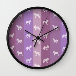 Zebra Pattern Wall Clock